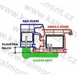 Pant pro plastové dveře Roto-PS23/17–20,5, RAL 1036 - bronz *