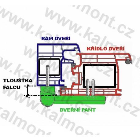 Pant pro plastové dveře Roto-PS23-3D/17–20,5, RAL 1036 - bronz pro zlatý dub