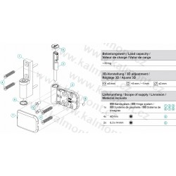 Gumová šedá zarážka oken a dveří, omezovač otevření, stopka, nožička