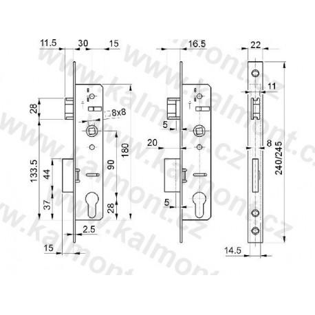 Pant závěs excentrický pro PVC plastové okno a dveře - bronz