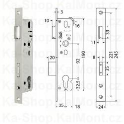Bezpečnostní vložka Euro Secure BT3 ES 40+45 NI, 6klíčů