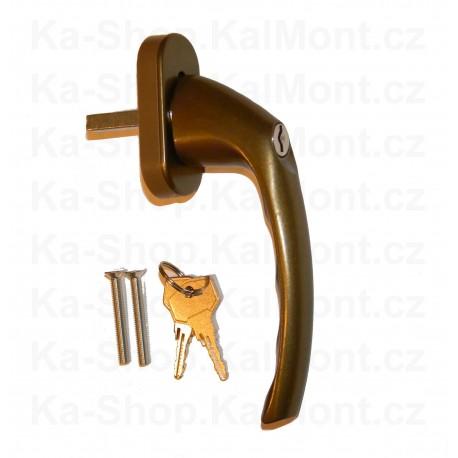 Pant závěs pro PVC plastové dveře Jocker Junior B 20,5 bronz hneda zlaty dub